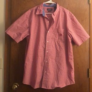 Red Great Quality Button Down Men's Shirt